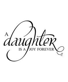 Black 'Daughter' Wall Quote