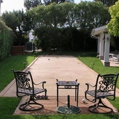 Bocce Ball Court Design Idea