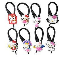 AVIRGO 8 pcs Soft Zipper Pull Charms for Backpack Bag Pendant Jacket Set # 58-3