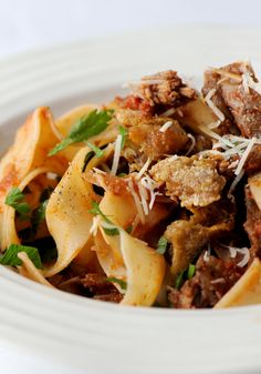 Pasta With Slow Roasted Duck Recipe — Dishmaps