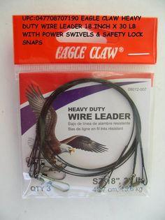 Stainless Steel Eagle Claw J Hooks 9//0 Big Game Deep Sea Salt Water Fishing