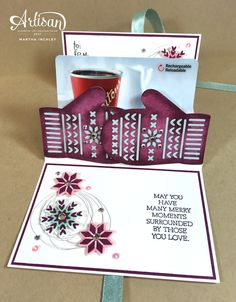 Gift those gift cards all dressed up in a cute little package created with the Smitten Mittens bundle and Stampin Blends by Stampin' Up!