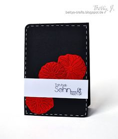 """DIY card with the sentiment that means """"I miss you"""" with simple video tutorial (German and English)"""