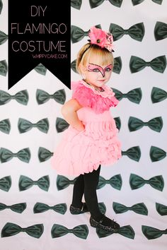 DIY Flamingo Halloween Costume with instructions for feathered collar and top hat