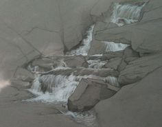 Brian MacNeal Water and Rock study of Caterskill Falls 9 x 12