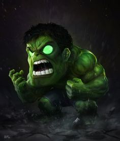 #Hulk #Fan #Art. (Hulk-Chibi)By: Kuchu. (THE * 5 * STÅR * ÅWARD * OF: * AW YEAH, IT'S MAJOR ÅWESOMENESS!!!™)[THANK Ü 4 PINNING!!!<·><]<©>ÅÅÅ+(OB4E)