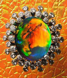 ARPEGE    DREAMTIME - Opal Rings: Black Opal, Boulder Opal