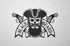 Black Beard pirate logo #Included#needed#EPS#text