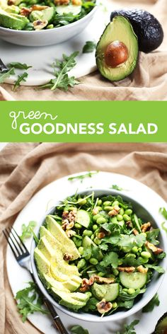 This simple, refreshing green goodness salad will invigorate your senses and leave your body and your taste buds feeling healthy, happy and satisfied.