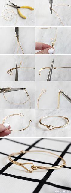 STEPS | Triangle Wire Bracelet | I SPY DIY