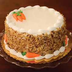 Homemade Carrot Cake, Best Carrot Cake, Cake Decorating For Beginners, Cake Decorating Videos, Carrot Cake Decoration, Thanksgiving Cakes, Pretty Birthday Cakes, Bakery Cakes, Holiday Cakes
