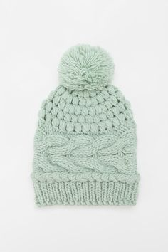 Urban Outfitters: Cooperative Popcorn & Cable Knit Pom Beanie (love love love love love!)