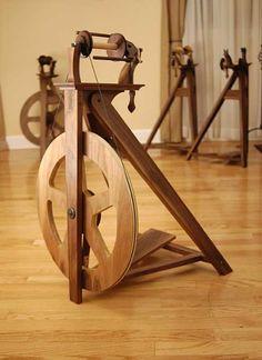 Overland Handcraft.  Beautiful American made spinning wheel.