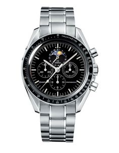 montre Omega Speedmaster Moonwatch http://www.vogue.fr/joaillerie/shopping/diaporama/horlogerie-la-tete-dans-les-etoiles-montres-phases-de-lune/15752/image/872783#!horlogerie-la-tete-dans-les-etoiles-montre-omega-speedmaster-moonwatch