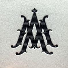 – AM monogram