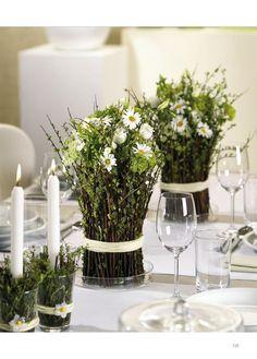 Wedding Decorations – Making Your Earth Friendly Decor Table Arrangements, Table Centerpieces, Wedding Centerpieces, Wedding Table, Floral Arrangements, Rustic Wedding, Wedding Decorations, Table Decorations, Deco Floral