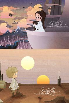 Baby Luke and Leia  #Home