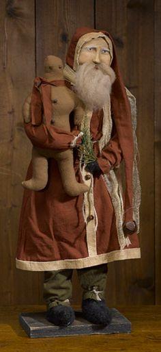 Jolly Santa with Gingerbread Man