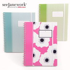 SeeJaneWork Notebooks in Office Depot January 1, 2013. Love this stuff! Based in Jax too.
