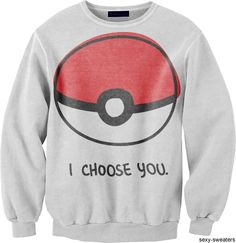 I Choose You Pokemon Sweater