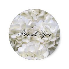 Elegant Black and White Floral Thank You Sticker Round Stickers