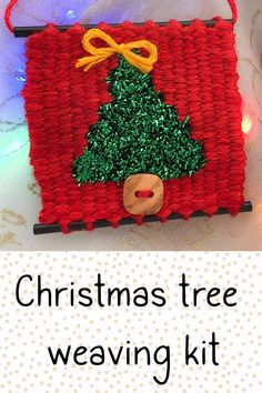 Learn to weave this mini Christmas tree ornament The kit includes video tutorials that guide you through every step! Click the video to see the kit in my shop.
