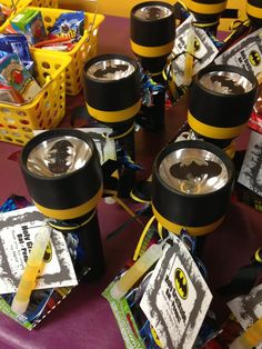 Favors for a Batman party from www.mylitter.com