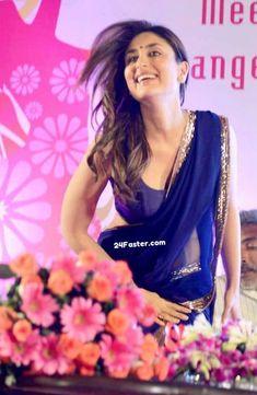 Bollywood Movies gorgeous Actress Kareena Kapoor Beautiful Hot Look in Saree Blouse