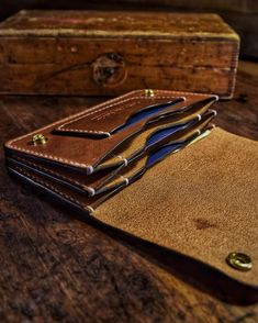 Wallets & Covers — Mascon Leather Wallets & Covers — Mascon Leather Image Size: 689 x 861 Source Full Grain Leather Wallet, Leather Wallet Pattern, Slim Leather Wallet, Handmade Leather Wallet, Leather Gifts, Leather Craft, Slim Wallet, Best Minimalist Wallet, Minimalist Leather Wallet