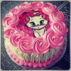 Bolo Gata Marie! Gatinha charmosa!!#gatamarie  #bologatamarie #Popcakeria
