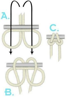 napoleon claw knot #campingbackpacks
