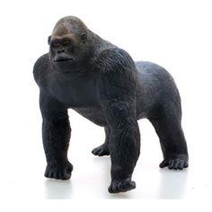 【約30cm!動物フィギュア】ニシローランドゴリラ ビニールモデル