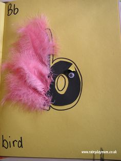 b is for bird easy to make craft for toddlers and pre-schoolers to help aid letter recognition