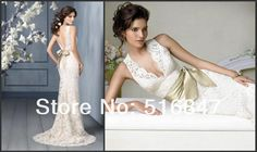 Banco de New Style Branco Marfim Longo Lace vestido de Noiva Belo vestido Sashes Vestidos de Casamento SZ: 6 16 Frete Grátis Vestidos De Noiva em Vestidos de casamento de Casamentos & Eventos no AliExpress.com | Alibaba Group
