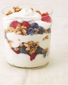 Layer fruit, granola and mixed berries for a beautiful and delicious last minute Mother's Day breakfast treat!  Find ingredients at Walmart.