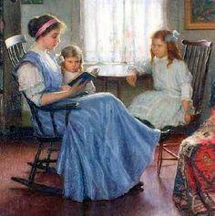 Lee Lufkin Kaula (American artist, 1865–1957) Mother Reading