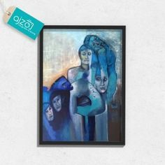 Plakat w ramie Błękit 50x70cm