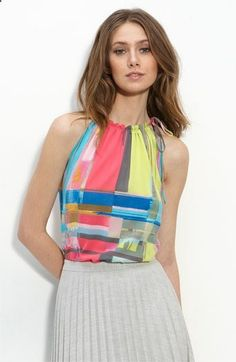 Always looking for fun silk tops to go under conservative business suits.