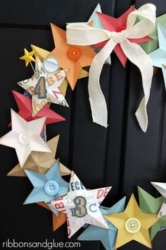 Love the bright colors in this DIY Birthday Star Wreath.  Anything with stars is always Fabulous!