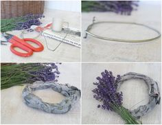 How to make lavender wreath!