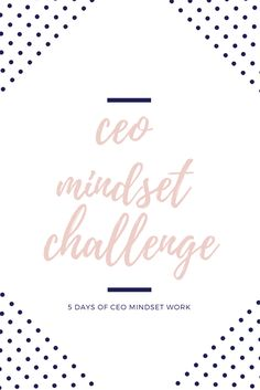 Ready to conquer your CEO mindset and start running your business like the boss you were meant to be? Signup for the FREE mindset challenge. Get videos, workbooks, journal prompts and more! Be the female entrepreneur you are destined to be!