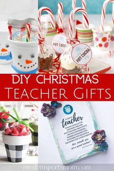 Are you looking for DIY gifts for teachers, or a team mom? This list of DIY Teacher Gifts are easy and fun! Make these DIY gifts together with your kids! #DIYgifts #teachergifts #sportsmom #giftguide