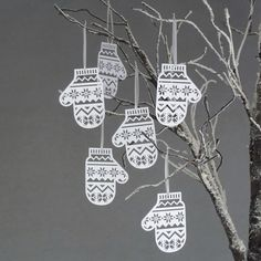 Paper Christmas Tree Decorations | Basil Green Pencil