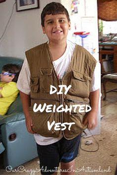 Need a weighted vest at home to help with sensory needs? Here's a frugal way to make one