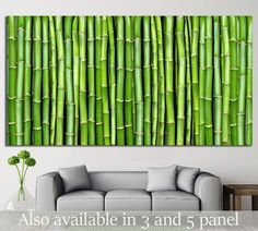 Bamboo №17 Canvas Print For Office Wall Decor #Decor #Art #Office #