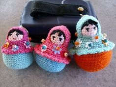 FREE Amigurumi Matryoshka Nesting Doll Crochet Pattern and Tutorial