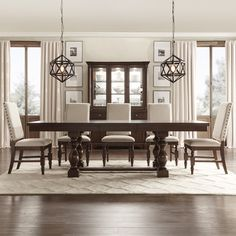 Flatiron Baluster Extending Dining Table by TRIBECCA HOME | Overstock.com Shopping - The Best Deals on Dining Tables