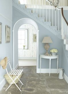 Hallway with staircase by little.greene, via Flickr