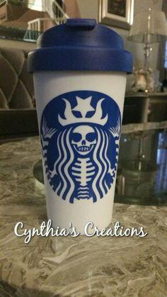 Starbucks Skull Coffee Cup Vinyl