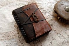 The Surfer  Embossed Brown Leather Journal Ink & by bibliographica